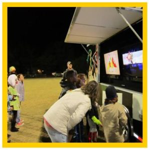 Large event entertainment in Saginaw, Flint and Mid Michigan with video game truck